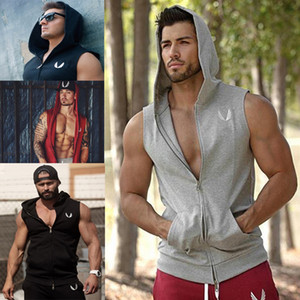 Mens tank tops designer t shirts sweatshirt Hoodie Sleeveless Stringer Bodybuilding Tank Top fitness vest Gym Singlet Tanks Fitness Clothes