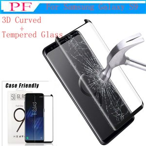 Case friendly gehärtetes glas 3d gebogen für galaxy s9 plus note 8 s8 plus s7 edge phone displayschutzfolie für s9 plus