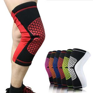 1 par soporte de rodilla proteger la aptitud correr los apoyos de ciclismo rodillera elástico de nylon deporte gimnasio rodilleras cálida manga seguridad deportiva envío gratis