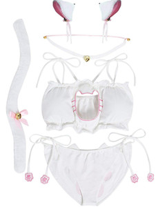Cosplay Set Lingerie gattino del costume delle donne Keyhole sexy sveglio Outfit