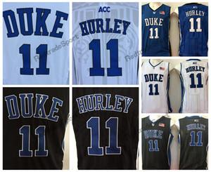 Мужские Дюк синие дьяволы Бобби Херли колледж баскетбол Джерси дешевые синий черный 11 Бобби Херли сшитые баскетбольные рубашки S-XXL