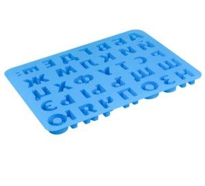 Новый дизайн Русский алфавит Письмо Силиконовые Cookie Формы для выпечки Шоколад Желе Пресс-формы Diy выпечки Силиконовые Ice Cube Tray кухни