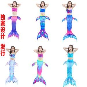 2018 nouveaux enfants sirène maillot de bain queue de sirène maillot de bain costume de sirène maillot de bain bikini