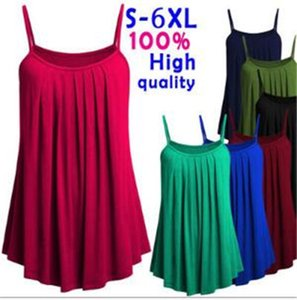 New style European and American new female pure color large fold belt shoulder-straps skirt S to 6XL For all women