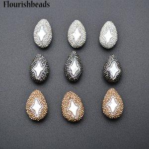 Configuración de cristal Natural Fresh Water Pearl Star Oval Nugget Flat Drop Shape Spacer Perlas sueltas DIY Jewelry Making Supplies