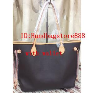 2 unids / set de alta qulity Diseñador clásico para mujer bolsos de las mujeres del totalizador de la PU del embrague de cuero bolsas de hombro bolso femenino con la cartera