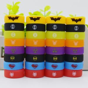 Renkli 26mm geniş çaplı vape band silikon yüzük ile Deadpool Wolverine Yeşil Fener Demir Yumruk logosu tfv12 prens için tfv8 büyük bebek tankı
