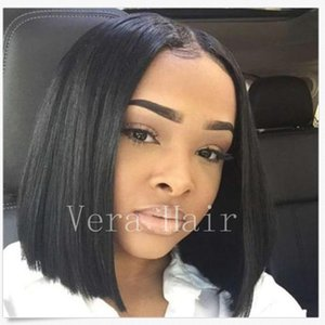 Human Hair Bob None lace Wigs With Baby Hair 120 Density Brazilian Virgin Lace Front Wigs For Black Women Lace Front Wig