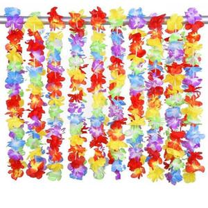 Гавайские leis гирлянда искусственные ожерелье Гавайи цветы leis партия поставляет пляж весело венок DIY подарок украшения