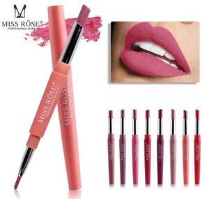 MISS ROSE Lápiz labial Set Belleza sexy Larga duración Impermeable Pigmento Mate Lápiz labial Lápices Hidratante Labios Kit de maquillaje