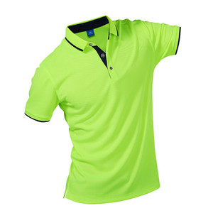 Polo da uomo Fashion Wintress Polo a contrasto colore colletto manica corta Fitness Solid Polo maschile Top stampa personalizzata