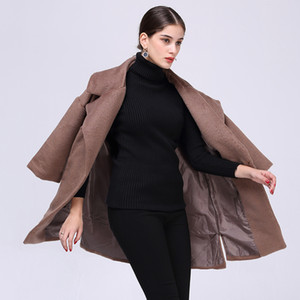 2018 Spring New Product Suit-dress Traje de color sólido Parte Sleeve Length Fund Women's Loose Coat de lana suelta JR77