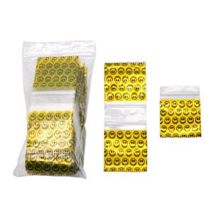 100шт / много пластиковых 46x44MM закрывающийся целлофановый мешочек упаковка для хранения печать сумки ювелирные изделия ziplock почтовый замок Поли мешок