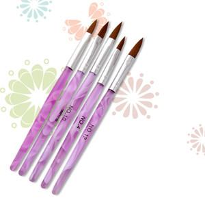 Set di pennelli per polvere acrilica in polvere liquida Set di pennelli per gel 3D Fiore fai da te Carving Builder Strass Perline Dot Pen