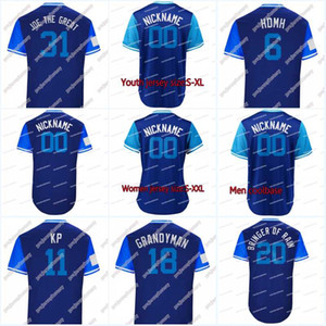 "2018 Players Weekend 20 Donaldson ""Bringer of Rain"" 11 PILIER ""KP"" 15 GRICHUK ""GRICH"" 31 BIAGINI ""JOE THE GREAT"" Maillots de baseball"