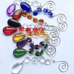 Yeni Tasarım 20pcs / Lot 170mm Garland Ipliklerini Cam Kristal Kek Aksesuarları Kristal Düğün Dekorasyon Yılbaşı Ağacı Dekorasyon