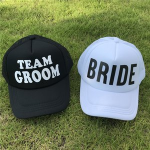 BRIDE Wedding Baseball Cap TEAM GROOM Mesh Hat Women Party  Club Team Hats Women Summer Sports Hats Female Casual Caps