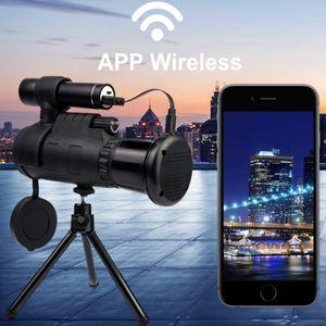 40 * 60 Monoculaire sans fil infrarouge télescope mobile numérique Vision nocturne HD Haute grossissement extérieur Chasse 12 fois FMC Film vert