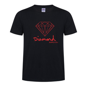 Diseñador Diamond Supply Co New Summer Cotton Camisetas para hombre Moda de manga corta Impreso Hombre Tops Camisetas Skate Brand Hip Hop Sport