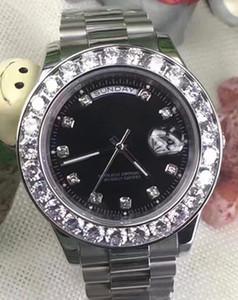 2018 luxury Hot Sale Luxury Wristwatch Stainless Steel Bracelet President White Bigger Diamond Dial Ceramic Bezel Mechanical reloj Watches.