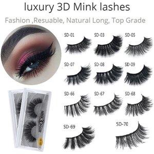 3D Mink falschen Wimpern voller Streifen gefälschte Wimper Lange Einzelne weiche natürliche starke Wimpern Nerz Eye Lashes Verlängerung Schönheit Werkzeuge 20styles
