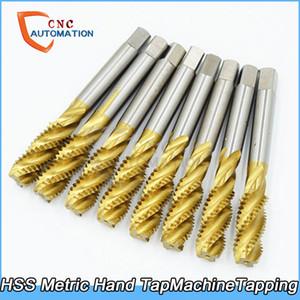 HSS Metrik El Tap Seti Makinesi Tap Kılavuz Vida Konu Musluklar M2 M3 M4 M5 M6 M8 M10 M12 M14 M16 Sağ Konu Matkap Uçları Fişleri