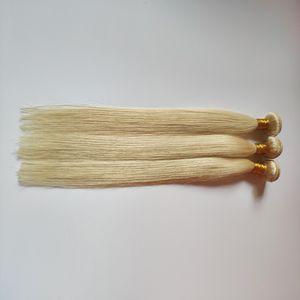 İnsan Saç Atkı Düz 613 # Yumuşak ve Pürüzsüz Uzun Ömürlü Euramerican Bayanlar popüler High-end Saç Uzantıları Factory Outlet