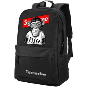 Buon pacchetto di Monkey Day The Outdoor futuro Fresco sacchetto di scuola casuale Zaino Packsack umana Sport Schoolbag Daypack dello zaino Hntiq