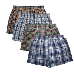 New Classic Plaid homens seta calças marca de moda casual de alta qualidade pugilista 4 pçs / lote mens boxers de Algodão dos homens calções cueca