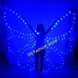 PF006 Bunter LED leuchtender Umhang / Light-up-Kostüm / Ballroom beleuchtet Flügel Schmetterling Kleid Bauchtanz Kleidung Bar Party-Event Leistung dj