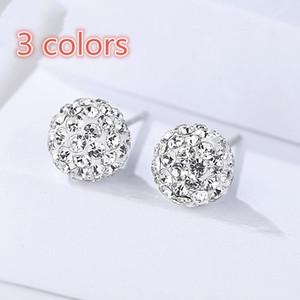 S925 pendientes de diamantes de plata esterlina, aretes de diamantes de lujo ligeros, joyas de plata creativa, modelos de explosión de alta calidad al por mayor
