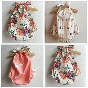 mameluco del bebé estampado de flores ropa de moda del bebé playsuit verano outwear bebé sunsuit mono lindo de buena calidad