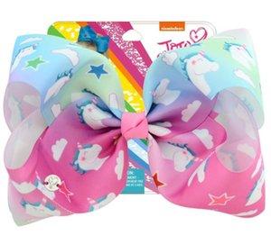 8 Zoll Haarbögen Prinzessin Einhorn Design mit Clip für Baby Kinder Mädchen Haarnadeln Kinder Haar-Accessoire