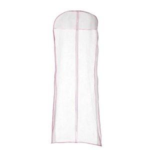 Vestido de noche de la boda vestido de novia bolsa de la cubierta de almacenamiento 150 cm tela a prueba de polvo ropa larga caso protector