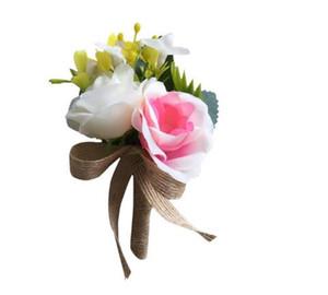 실크 많은 색상 웨딩 부케 신부와 신랑 꽃 꽃 코사지 신랑 액세서리