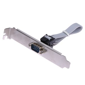 Placa base de alta calidad RS232 DB9 Pin COM Puerto de cinta de serie Cable Conector Soporte