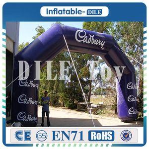 Entrada 6m * 3m inflável gigante Iniciar Finish Arch Archway Evento Linha de Chegada Para Eventos Desportivos, Inflável Arch Portão