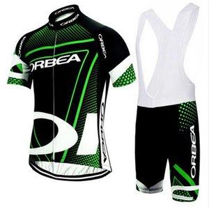 새로운 팀 ORBEA 사이클링 저지 2018 반소매로드 바이크 셔츠 반바지 세트 통기성 프로 사이클링 의류 MTB maillot Ropa Ciclismo F2709
