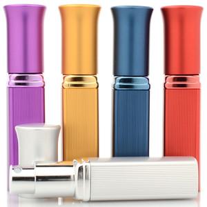 Top Quality 6 ml Recarregáveis Mini Perfume Garrafa De Vidro De Alumínio Viajante Spray de Atomizador De Viagem Perfume Frasco De Spray