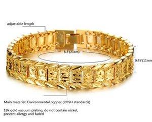 Bangle Solid Women 8.3inch Charms Bracelets Yellow Gold Real For Bracelet Chain Watch 18K Link Filled Gold Bracelets Men KKA1846 Oqucw