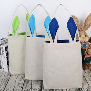 Easter Bunny Design Cotton Cloth Handbag Gift Bag For Use Tote Basket Blank Favor Bag, Party Gifts DIY Ears Lrkqq