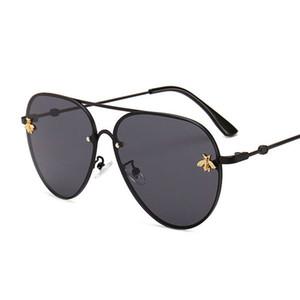 2020 Markendesign Sonnenbrille Frauen Männer Markenentwerfer gute Qualität Mode Metall übergroße Sonnenbrille Jahrgang weiblich männlich UV400.