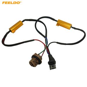 FEELDO 7443/7444 LED декодер автомобиля LED Light ошибка Canceller адаптер резистор кабель Canbus функция провода предупреждение мигает Canceler #5344
