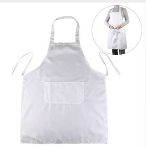 LUOEM Halter-neck Style Sleeveless Kitchen Cooking Apron with Pocket (White)