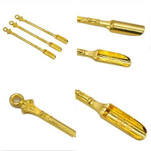 Ferramentas Dab Gold Shovel Spoon Shaped Atomizador Ferramenta de Óleo De Aço Inoxidável Ferramenta de Erva Seca Acessórios Fumar