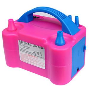 220 V EU Plug Double Hole AC Gonfiabile elettrico Pompa a palloncino Pompa a palloncino Pompa a palloncino elettrico Gonfiatore ad aria portatile