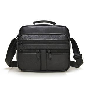 Мужская сумка наплечная сумка кошельки и сумки модный бизнес высококачественная овчина одно плечо простой ранец курьерские сумки