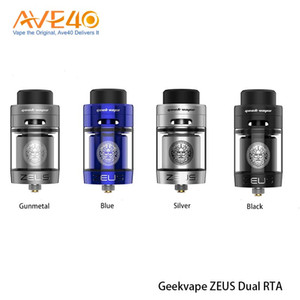 Authentic Geekvape Zeus Dual RTA Tank Leak-proof Top Airflow System with Upgraded Postless Build Deck Easy Building for Single Dual coil