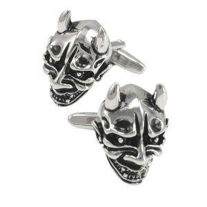 SAVOYSHI plata antigua del cráneo Gemelos de camisa para hombre de la marca Gemelos Gemelos Bottons fantasmas esqueleto de los hombres de alta calidad de la joyería