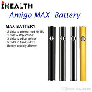 Аутентичные Amigo Макс подогрев батареи 380 мАч переменное напряжение 510 батареи USB кабель для толстых нефти испаритель ручка картриджи